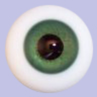 Green Solid Glass Paperweight Eyes
